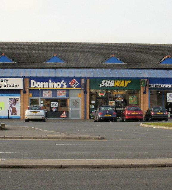 Domino's Pizza and Subway, Malpas, Newport