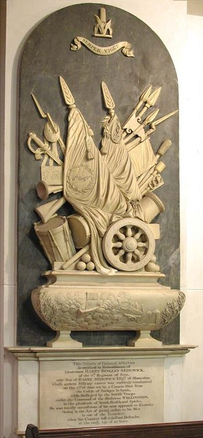 St John at Hackney, Lower Clapton Road, London E8 - Wall monument