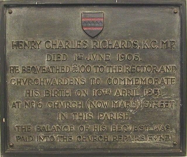 St John at Hackney, Lower Clapton Road, London E8 - Memorial
