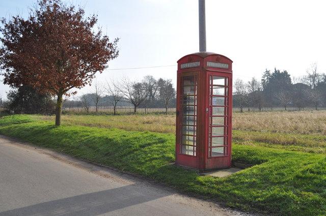 Red Telephone Box nr Sunnyside