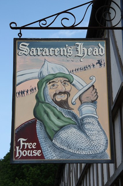 The sign of The Saracen's Head