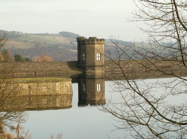 Reflections Langsett Reservoir Valve Tower