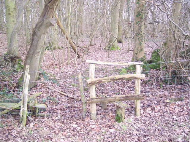 Stile into Kiln Wood
