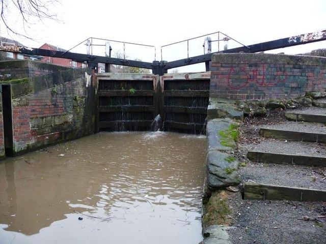 Bottom gates, Dockholme Lock, Erewash Canal