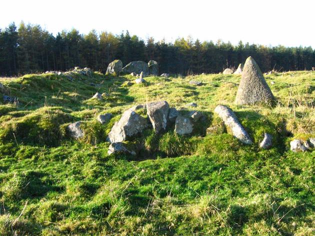 Stone circle near Knock wood