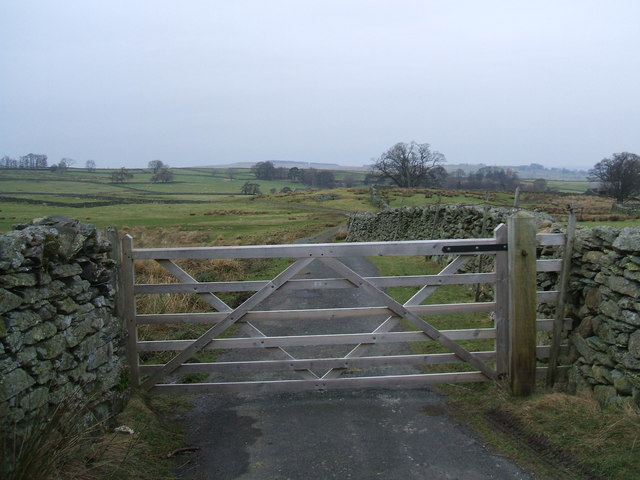 Gated road to Rough Hill