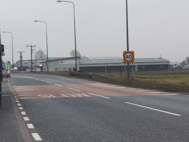 40 mph limit on the A614 eastbound, approaching the M62