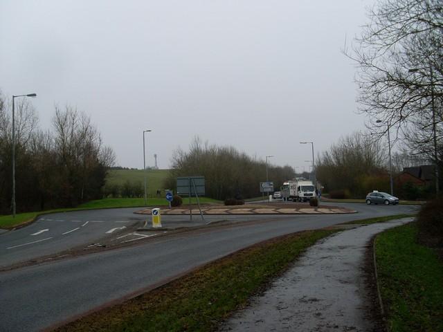 Roundabout in Stewartfield