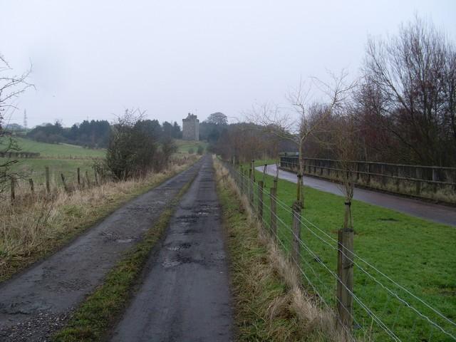 Mains Castle from James Hamilton Heritage Park