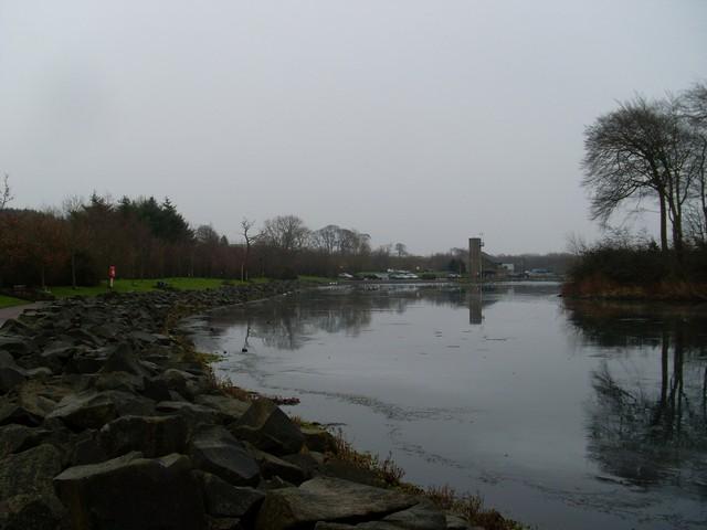 Rocky shore of Heritage Loch