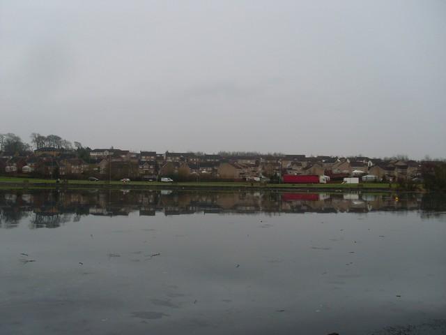 Stewartfield from across Heritage Loch