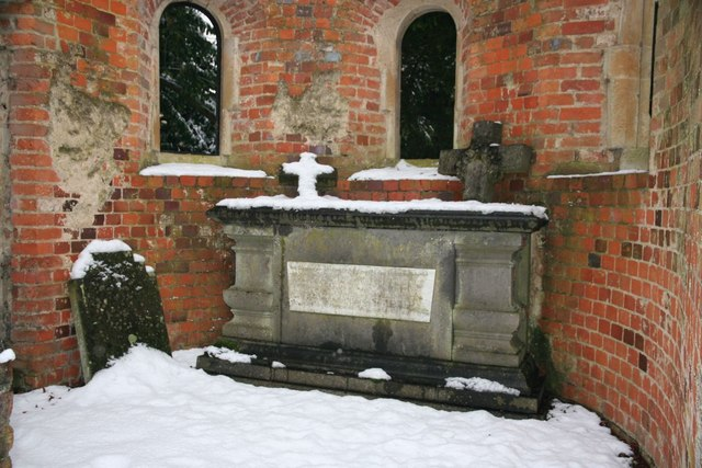 Snow covered altar