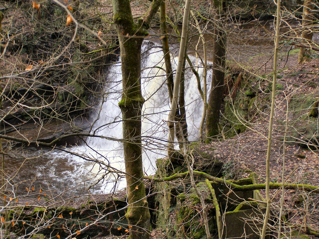 Naden Brook, Higher Clough waterfall