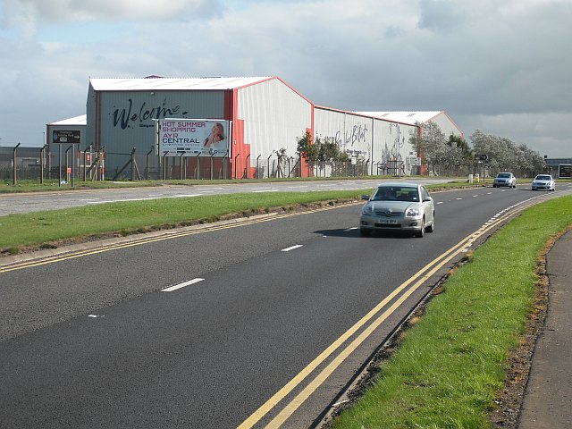 A79 passing Prestwick Airport