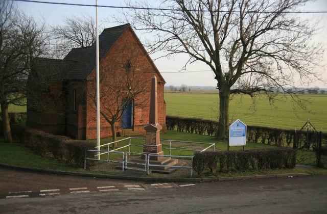 St Andrews Church and war memorial
