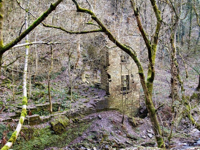 Higher Clough, mill remains.
