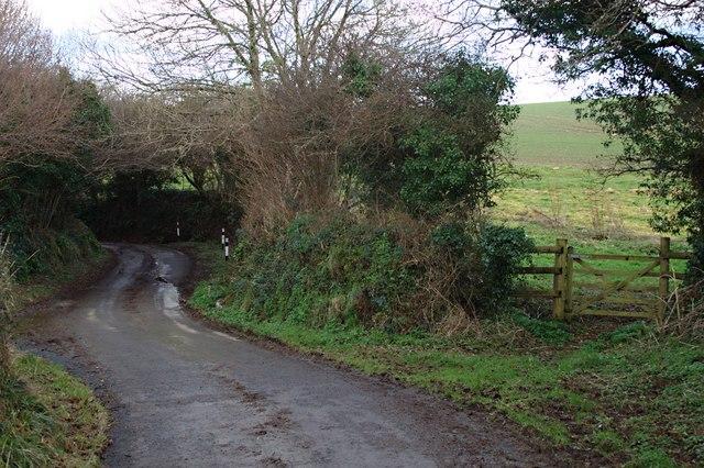 The Winding Lane near Wastor Cross