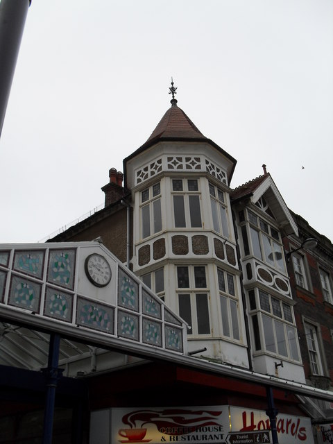 Clock above The Arcade