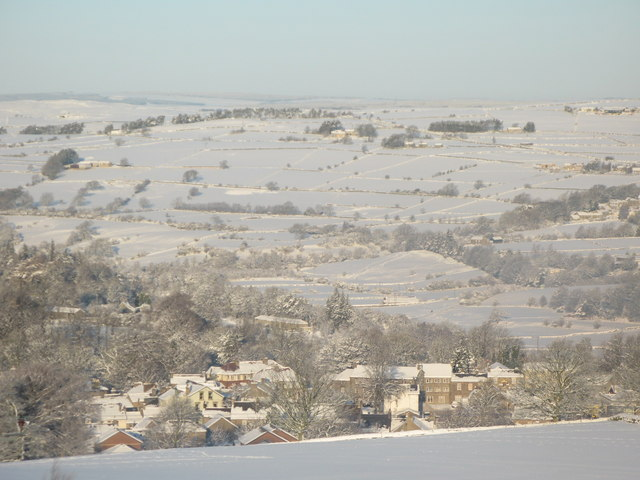 Panorama of snowy East Allen Dale (6 - Allendale Town)