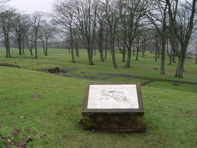 Remains of Roman Bath House at Bar Hill