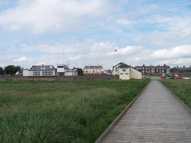 Lifeboat Station and Ribble Cruising Club from the Jetty, Lytham