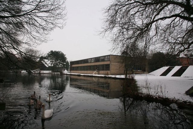 Lake by the school