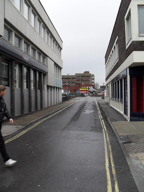 Looking northwards up Bedford Street towards Morrisons