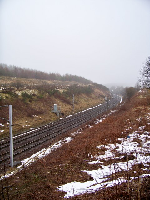 West Coast Main Line Near Beattock Summit