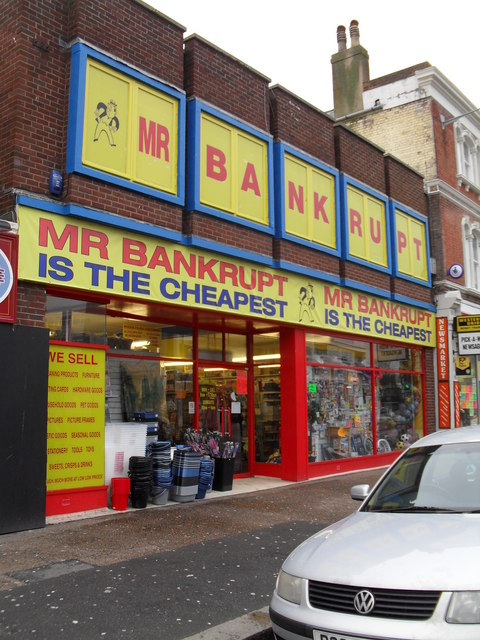 Mr Bankrupt in the High Street