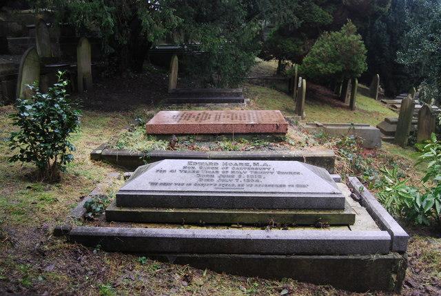 Canon Edward Hoare's grave, Woodbury Park Cemetery
