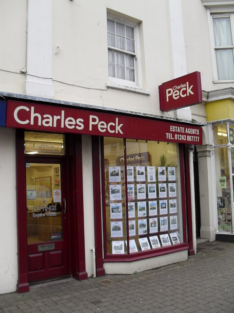 Charles Peck in the High Street
