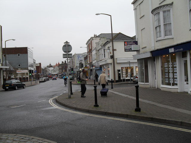 Looking from Norfolk Street along the High Street