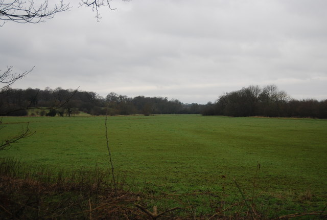 Rural view SW from the bridleway to Wat Stock