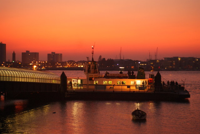 Dusk at Portsmouth Harbour