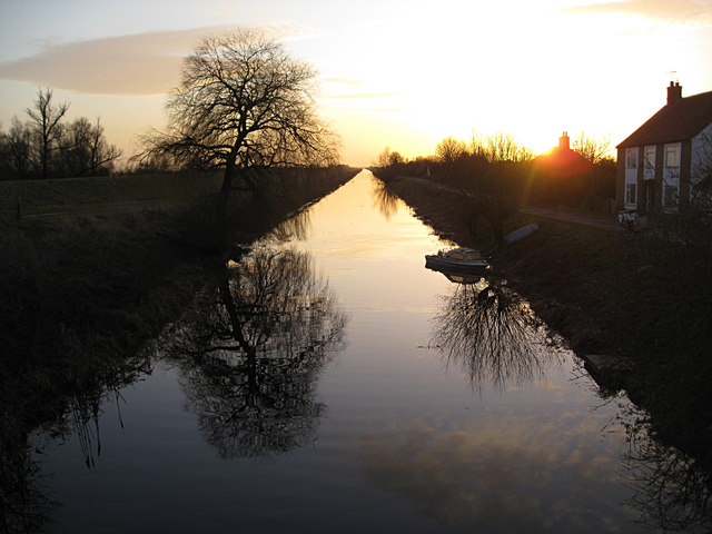 Winter Sun on The Old Bedford River