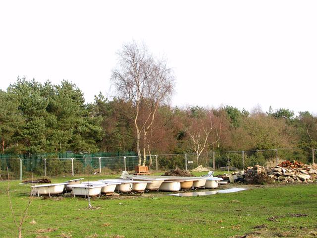 Fenced-in bath tubs south of Marsh Lane