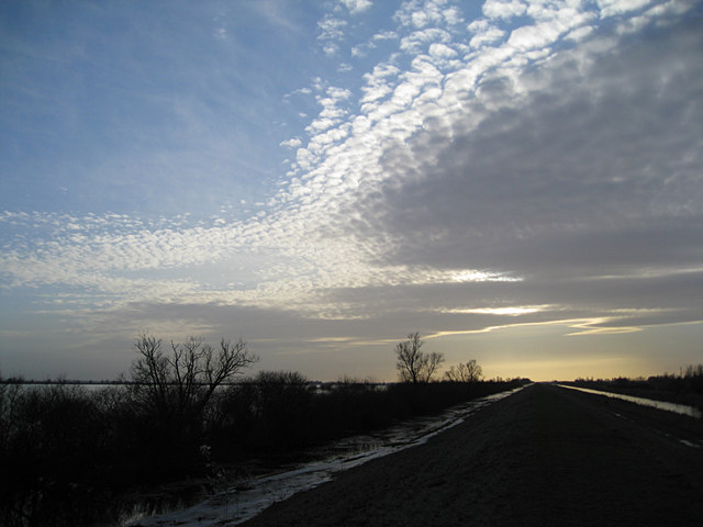 Dramatic Sky over Ouse Washes