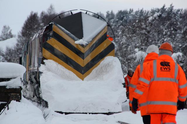 Railway snowplough
