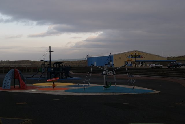 Seafront playground and skatepark