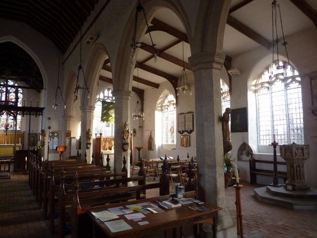 Inside St Mary's Church