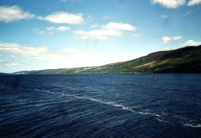 Loch Ness, seen from Strone Point near Urquhart Castle