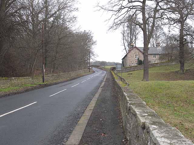 B6309 north of Bywell Bridge