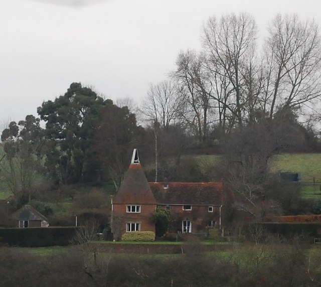 Close up of Doubleton Farm Oast house
