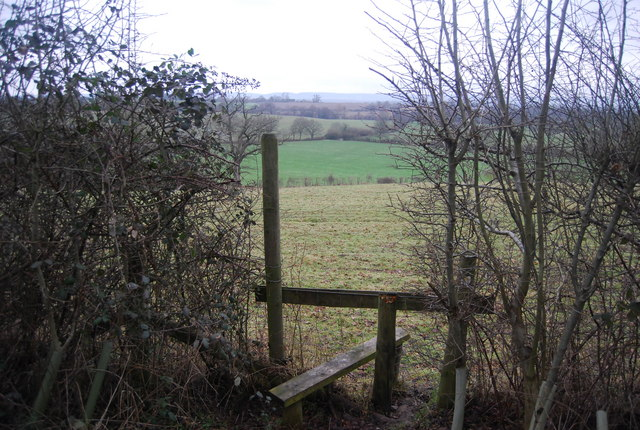 Stile by the bridleway near Wat Stock
