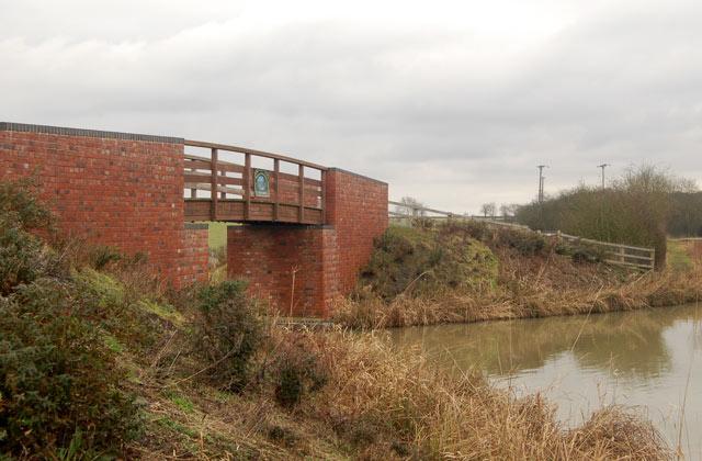 Bridge over entrance to the new Ventnor Farm Marina, Grand Union Canal