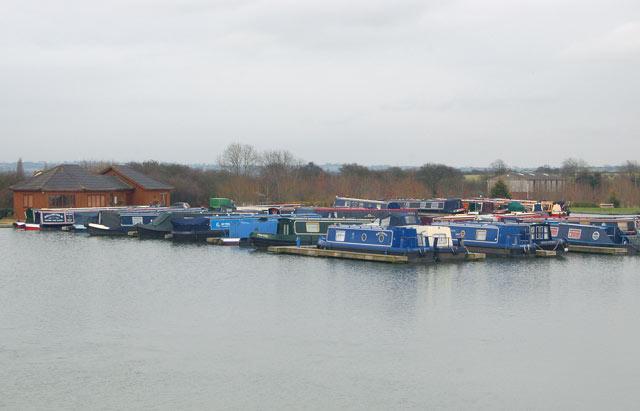 Boats in Ventnor Farm Marina, Grand Union Canal