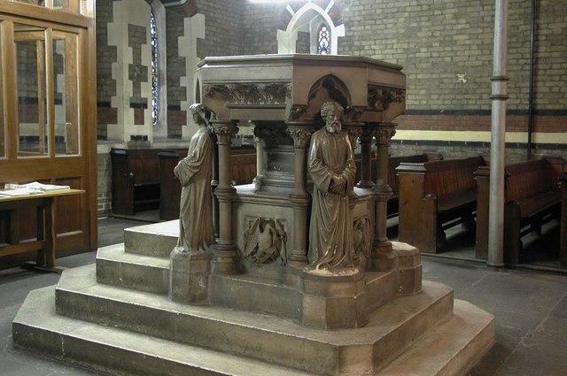 St Mark, Dalston, London E8 - Font