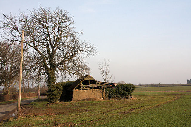 Old barn at Castle Farm, Buxhall