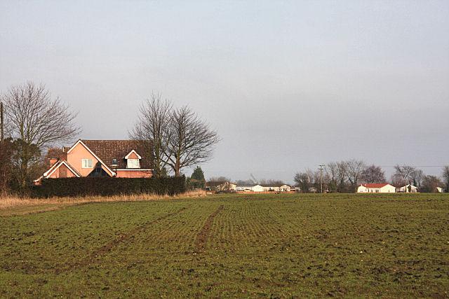 Farmland and housing at Water Run
