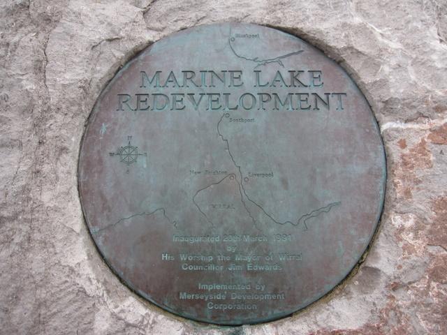 Marine Lake redevelopment plaque
